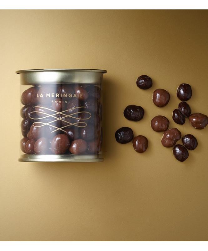 Grains de café enrobés de chocolat
