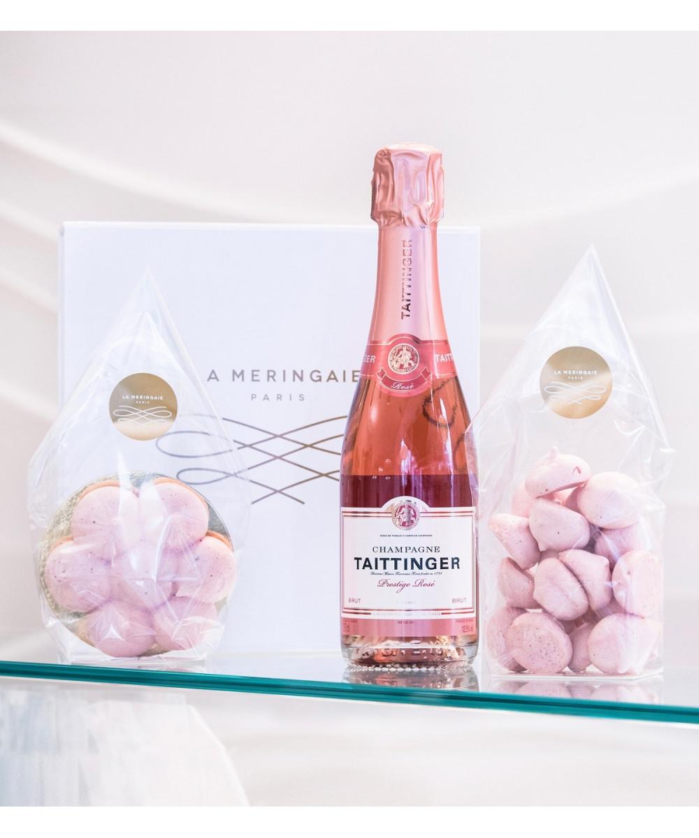 Demi- bouteille de Champagne rosé Taittinger