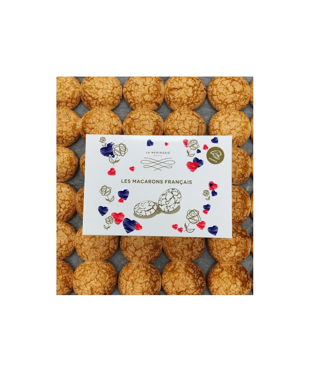 Boîte de macarons traditionnels à l'amande