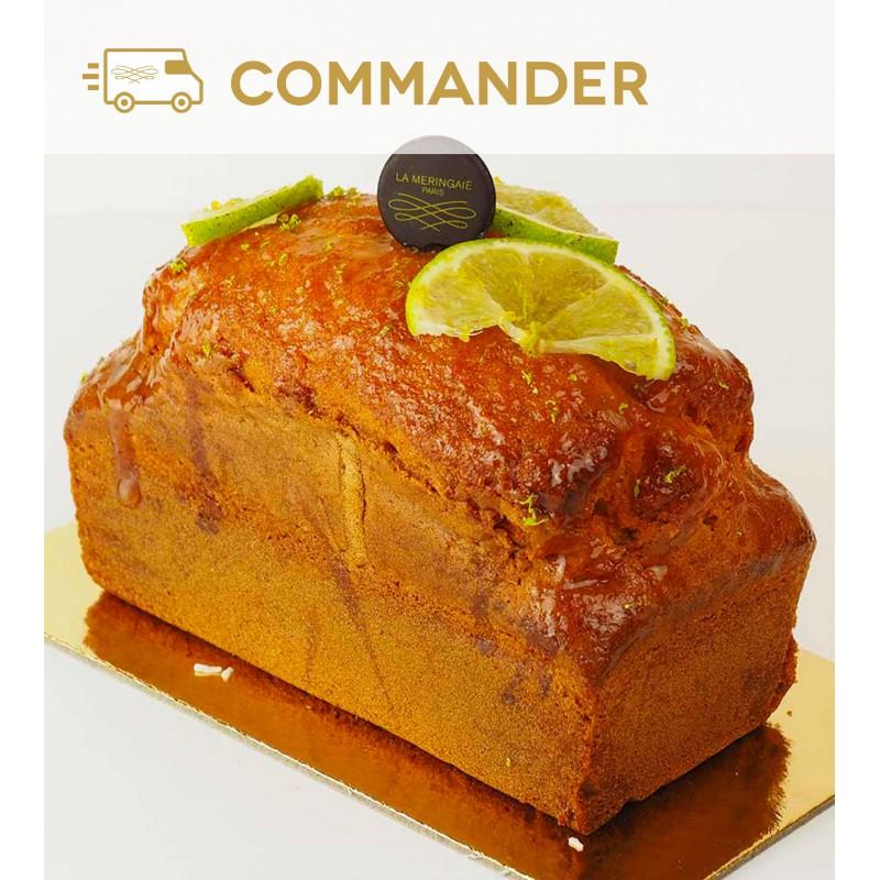 Gâteau au zeste de citron vert et au sirop de fruit de la passion