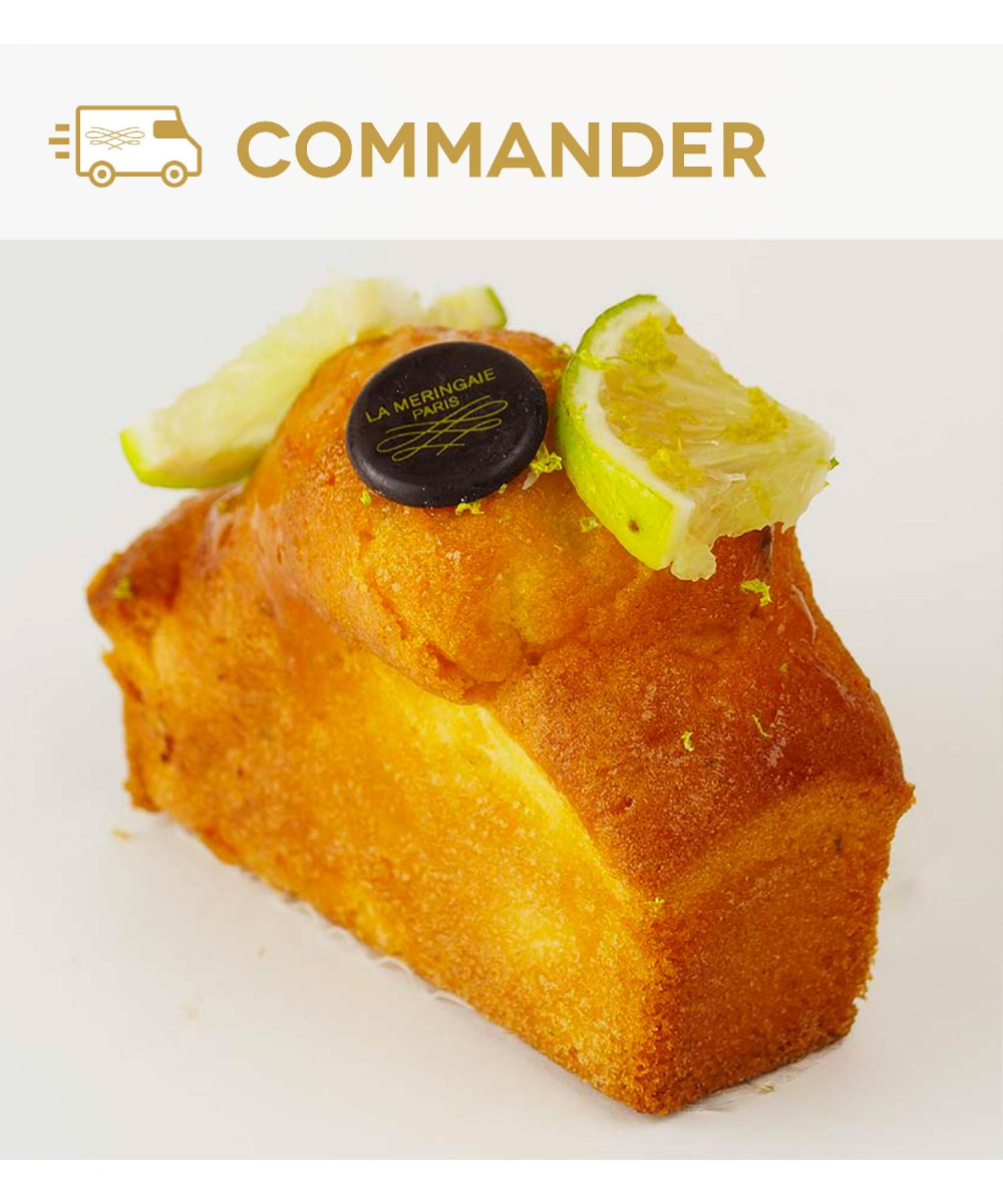 Gâteau individuel au zeste de citron vert et au sirop de fruit de la passion