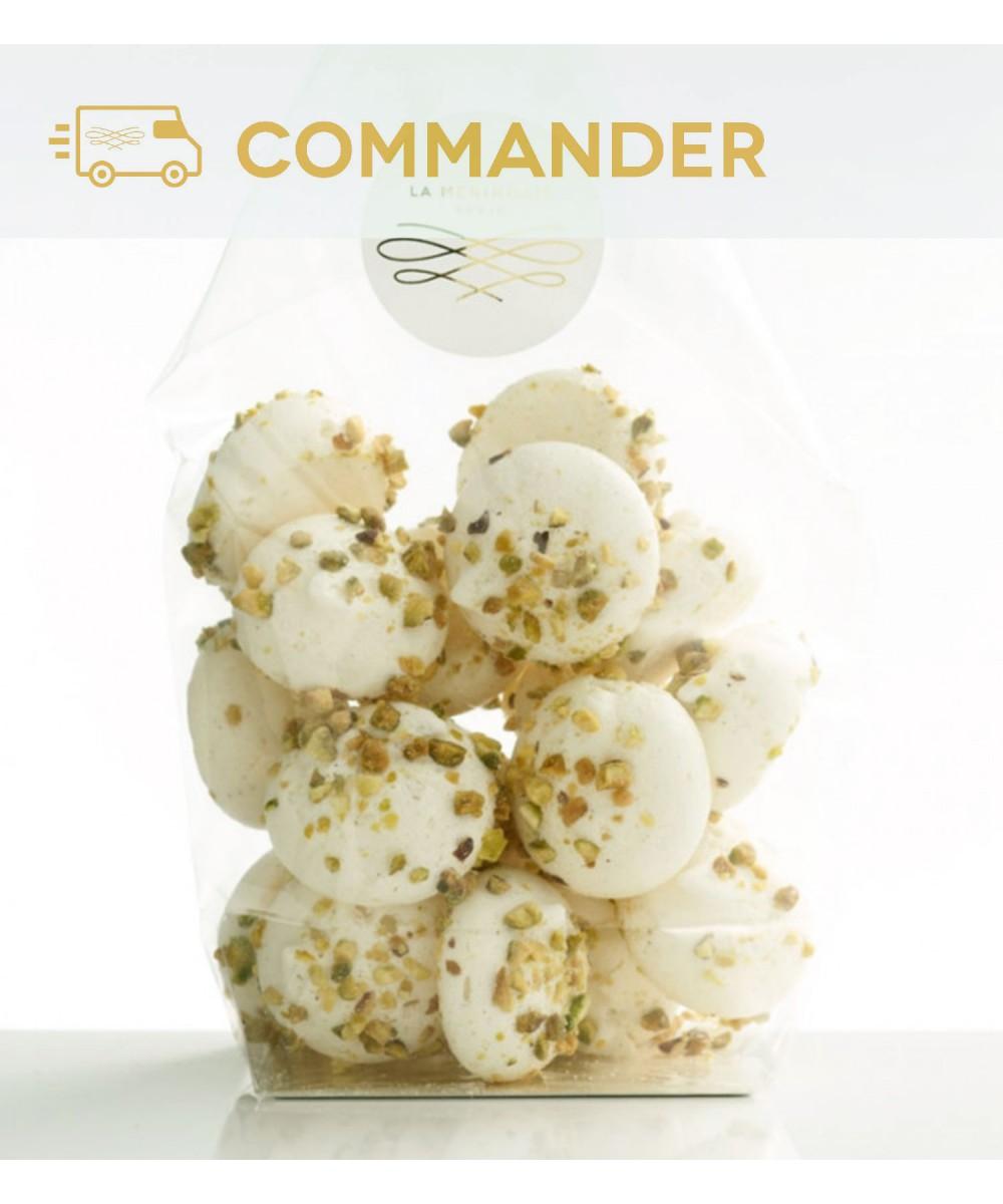 Petites meringues aux fruits secs - pistaches